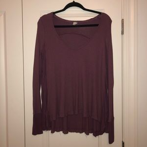 Free People Mauve Long Sleeve Sweater Size S